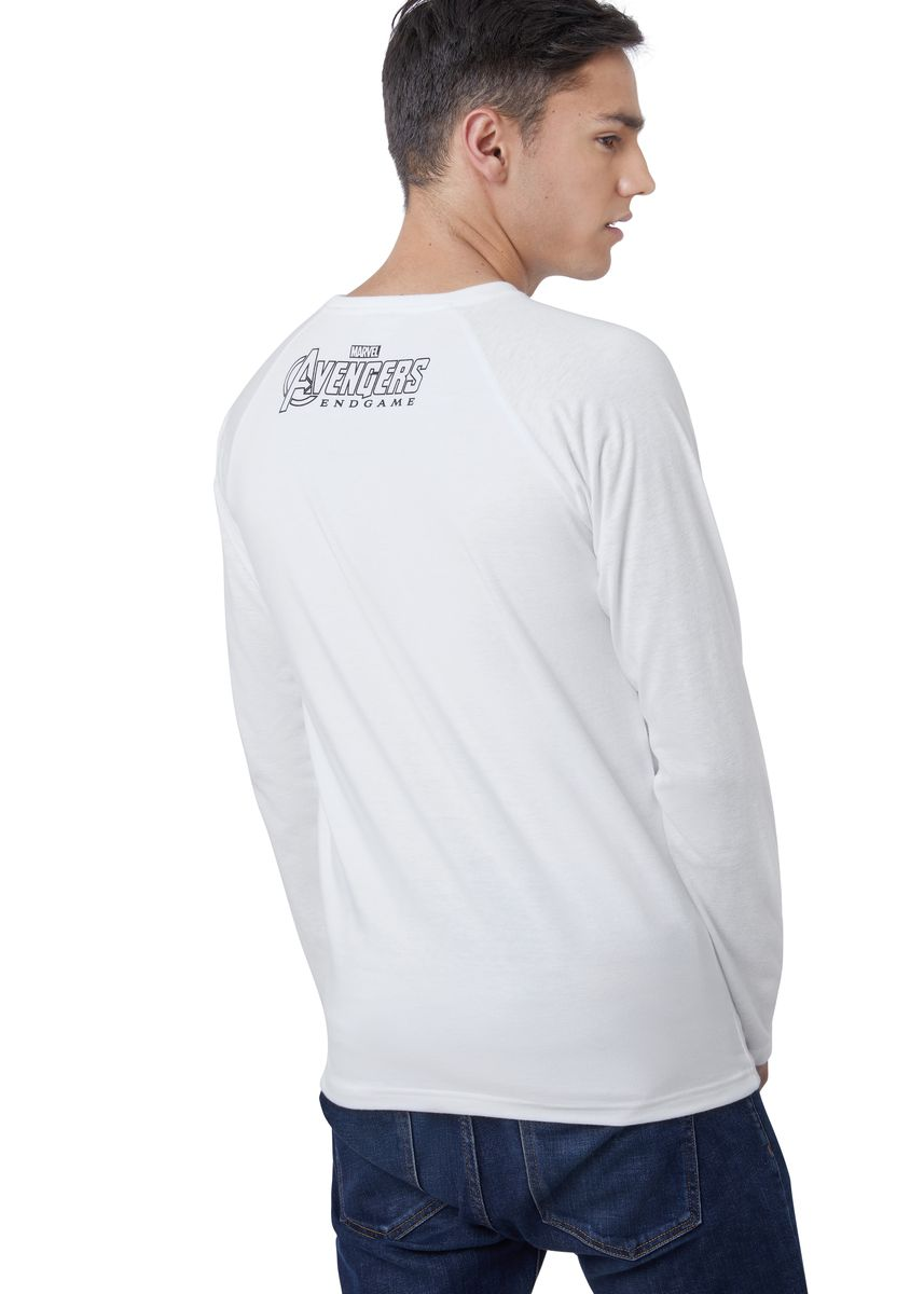 White color T-Shirts and Polos . Official Marvel's Avengers Shattered Logo Long Sleeve Shirt -