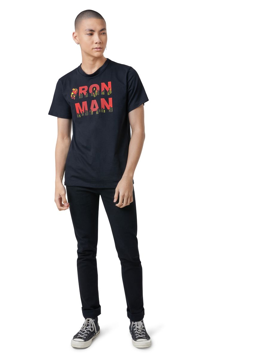 Black color T-Shirts and Polos . Official Iron Man Classic T-Shirt -
