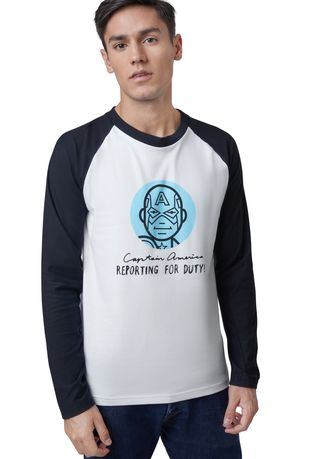 White color T-Shirts and Polos . Official Marvel's Avengers Reporting For Duty Long Sleeve Shirt -