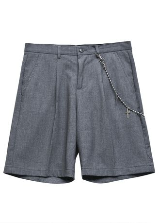 Grey color Shorts & 3/4ths . Recreational straight shorts man -