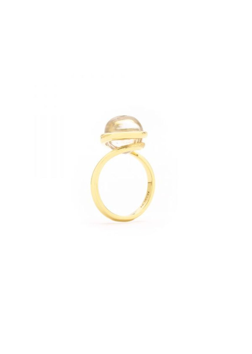 Gold color  . Maron jewelry Mirari Ring with Golden Brown Zircon in White Topaz -