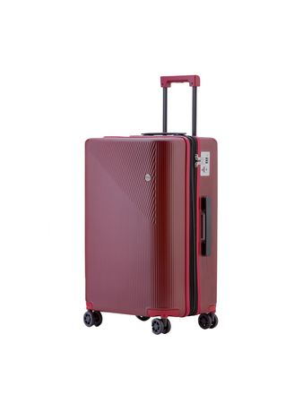 Red color Suitcases . Cove Luggage กระเป๋าเดินทางล้อลาก รุ่น MaxMotion Expandable ขนาด 20 นิ้ว -