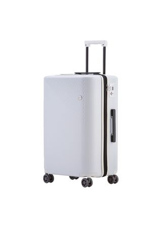 White color Suitcases . Cove Luggage กระเป๋าเดินทางล้อลาก รุ่น MaxMotion Expandable ขนาด 20 นิ้ว -