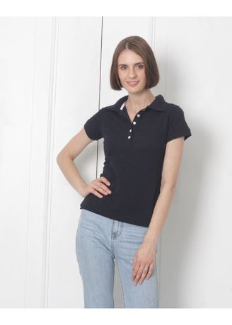 Blue color Tees & Shirts . Women's People's Pride Polo T-shirt -