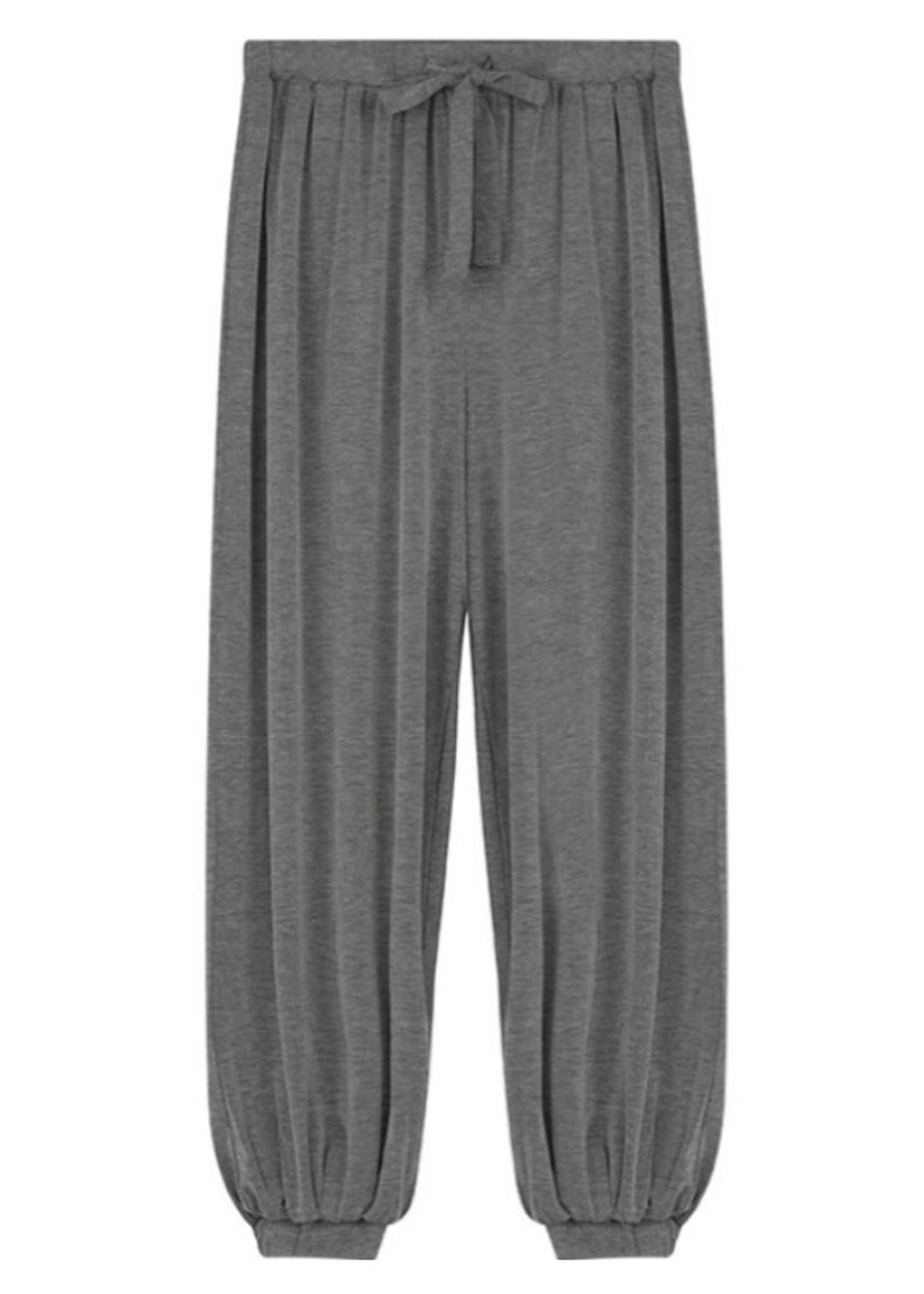 Grey color Trousers . Loose-fitting Sports Pants -