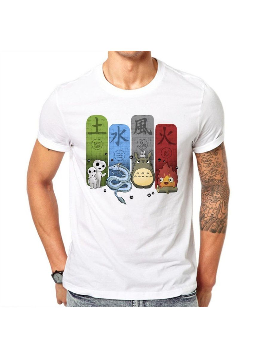 White color T-Shirts and Polos . Creative Design Striped Print Men's Cotton T-shirt -