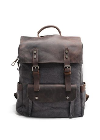 Grey color Backpacks . Hudson Leather Backpack – Green -