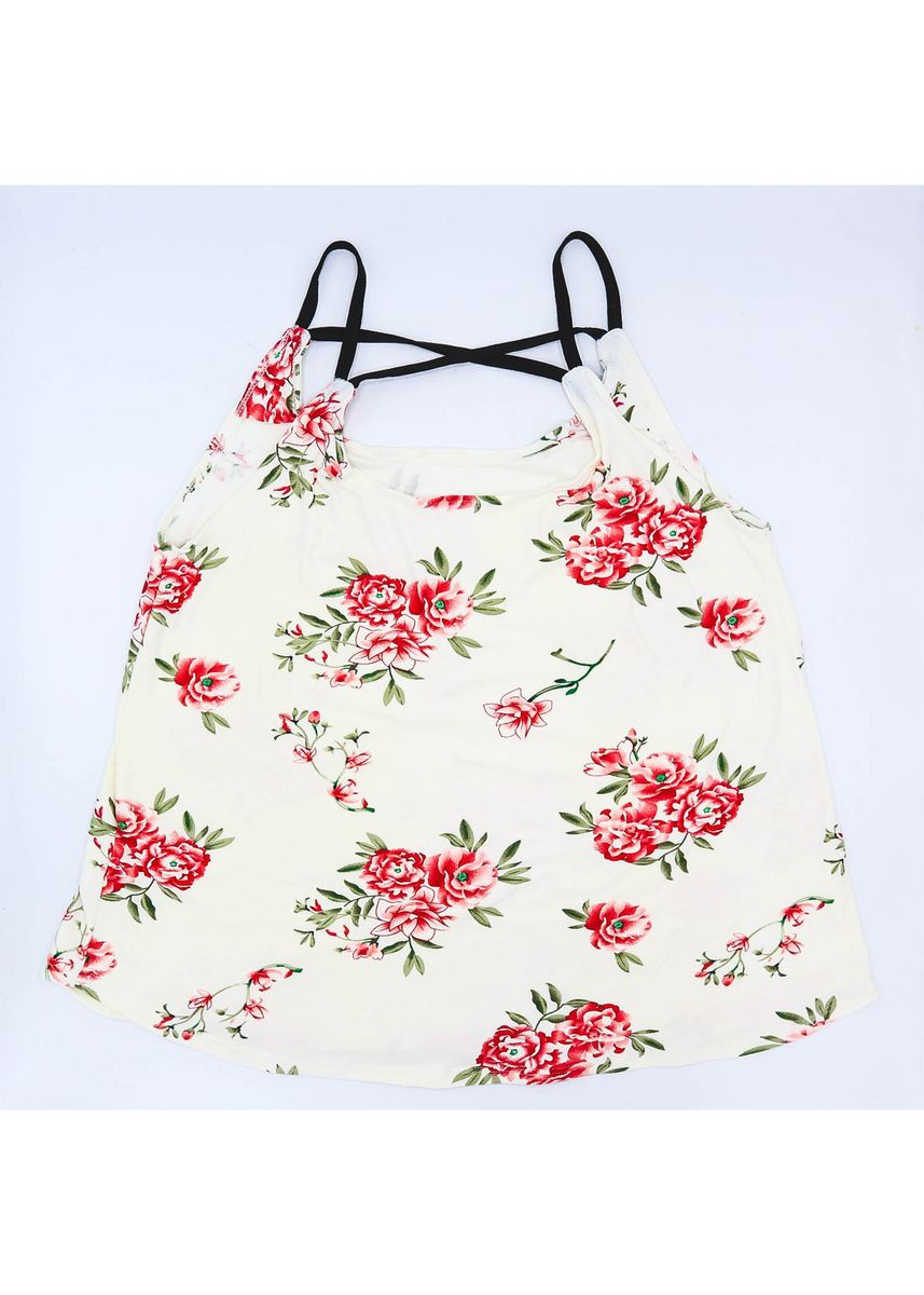 White color Tops and Tunics . AC & Co. Manila  Sexy Tops Printed Halter for women outfit Blouses Flower Design -