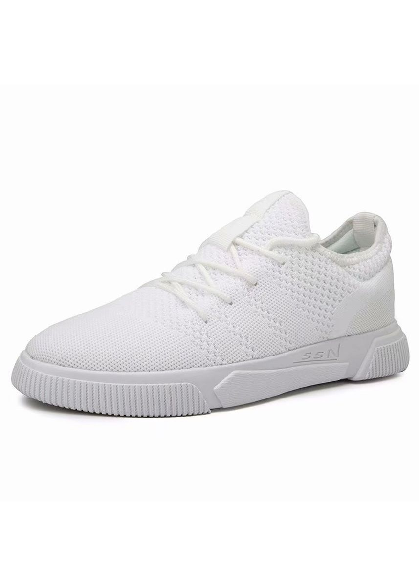 White color Casual Shoes . Fashion Men's Sports Breathable Running Shoes -