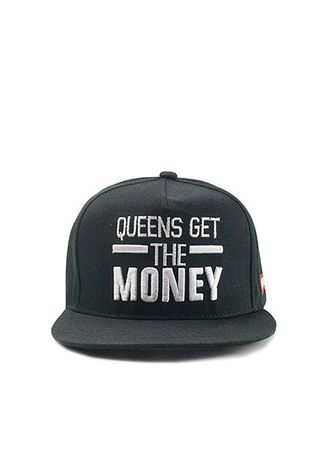 Black color Hats . Mirror Dress หมวก Queens Get the Money -
