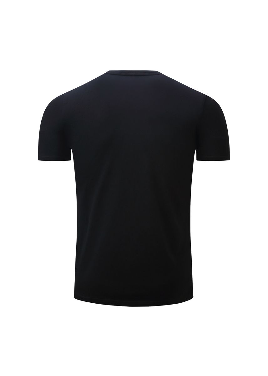 Black color T-Shirts and Polos . Printed  Short-sleeved T-shirt -