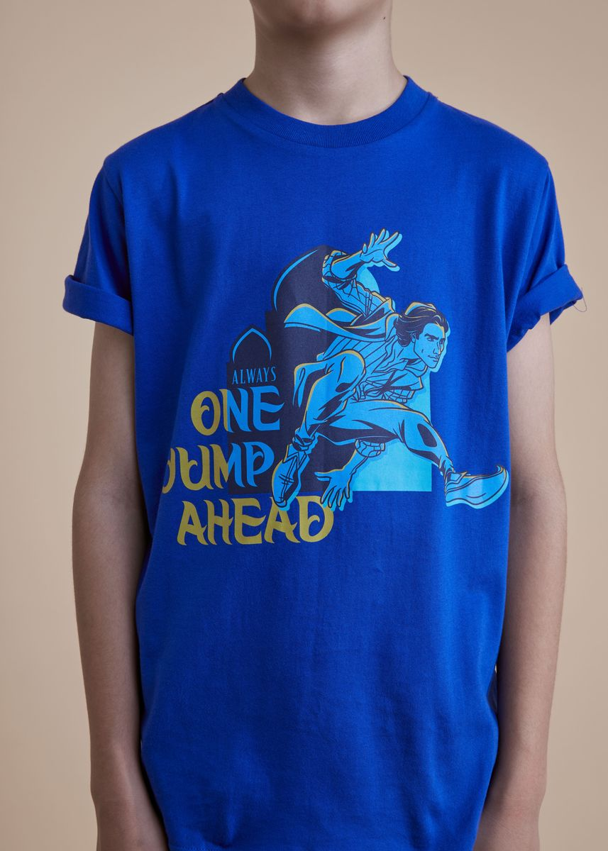 ฟ้า color เสื้อ . Official Aladdin Navy T-Shirt -