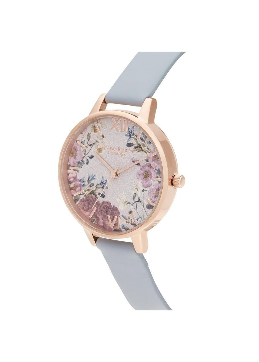 Light Blue color Analog . Olivia Burton British Blooms Women's Watch -