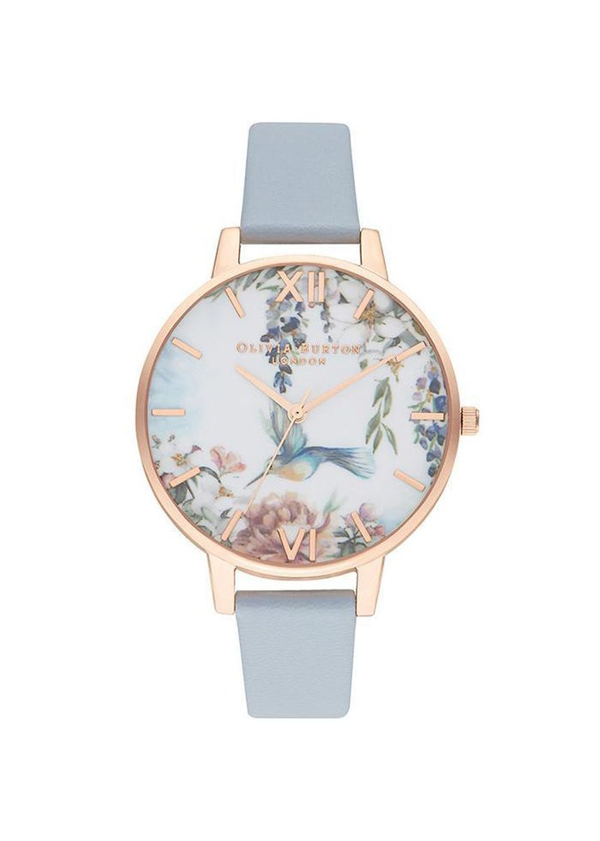Light Blue color Analog . Olivia Burton Painterly Prints Chalk Blue Women's Watch -
