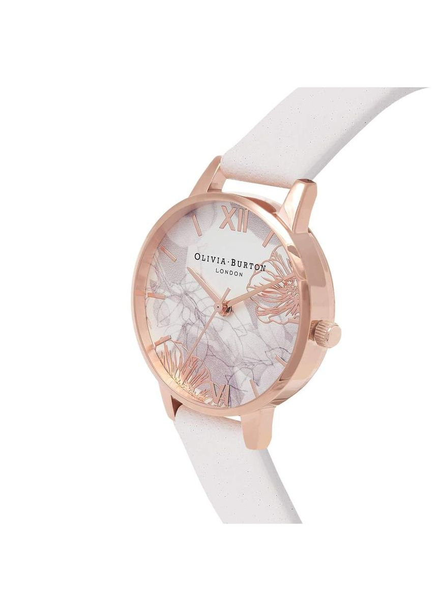 Light Grey color Analog . Olivia Burton ABSTRACT FLORALS Blush 30 mm Women's Watch -