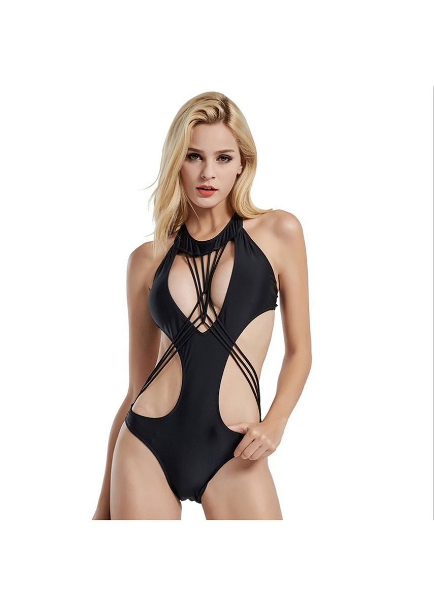 Black color Beachwear/Swimwear . Sexy One-piece Swimsuit Female Was Thin -