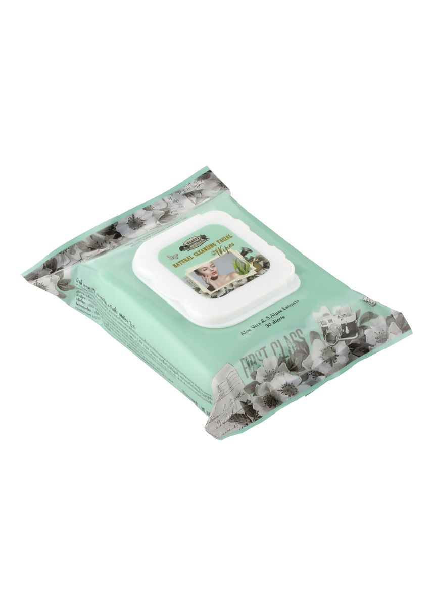 No Color color Toner & Cleanser . Beauty Cottage Natural Cleansing Facial Wipes บิวตี้ คอทเทจ เนเชอรัล คลีนซิ่ง เฟเชียล ไวพ์ (30pcs.)   -