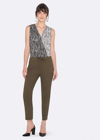 Khaki color Trousers . OVS Joggers With Drawstring And Pockets -
