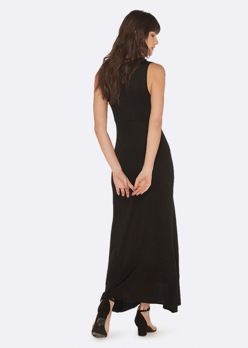 Black color Dresses . OVS Long Sleeveless Dress with Knitted Lurex -