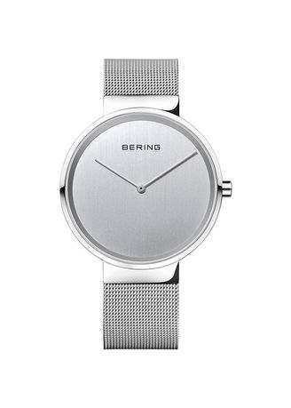 Silver color Analog . Bering Classic Silver 39 mm Unisex Watch (14539-000) -