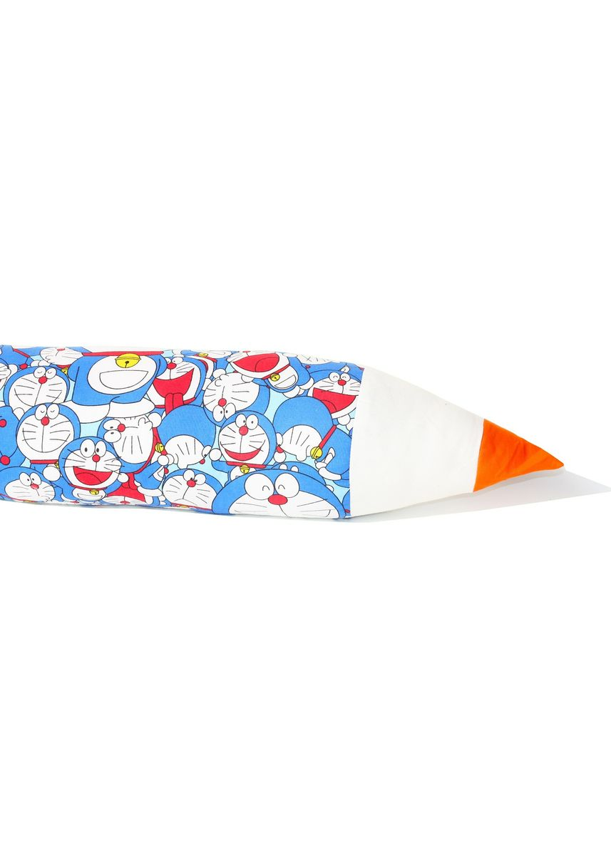 Blue color Bedroom . Guling Pensil Premium Silikon ( Grade A ) - Doraemon Biru 73x15cm -