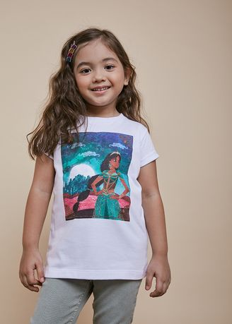White color Tops . Official Jasmine Beauty Pose T-Shirt -