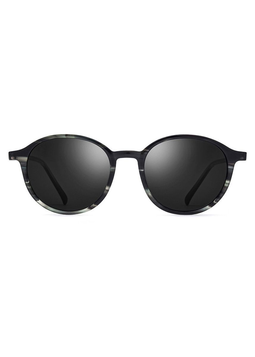 ดำ color แว่นกันแดด . Oval Retro Large Frame Polarized Sunglasses -