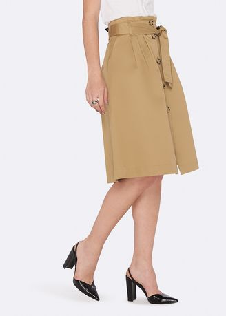Skirts . OVS 100% Cotton Midi Skirt With Buttons -