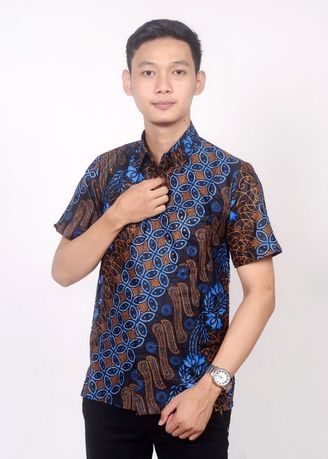 Blue color Formal Shirts . Kemeja batik Pekalongan -