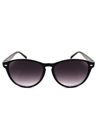 Black color Sunglasses . Digisoria Annie Cool Rounded Notch Bridge Sunglasses -