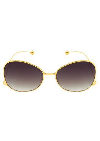Black color Sunglasses . Digisoria Flossie Women Fashion Oversized Square Frame with Unique Arm Design Black/Gold Sunglasses -