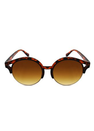Brown color Sunglasses . Digisoria Amelie Women's Trendy Round Cat-Eye Sunglasses -