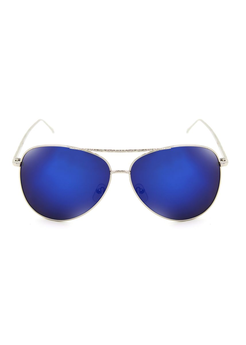 Blue color Sunglasses . Digisoria Hazel Summer Swirl Arm Design Sunglasses -