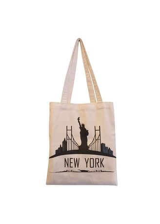 White color Hand Bags . Serendipity Alina Tote Bag New York -