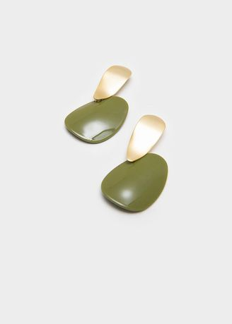 Hijau color  . Berrybenka Mesca Decyta Stylish Earrings Olive -