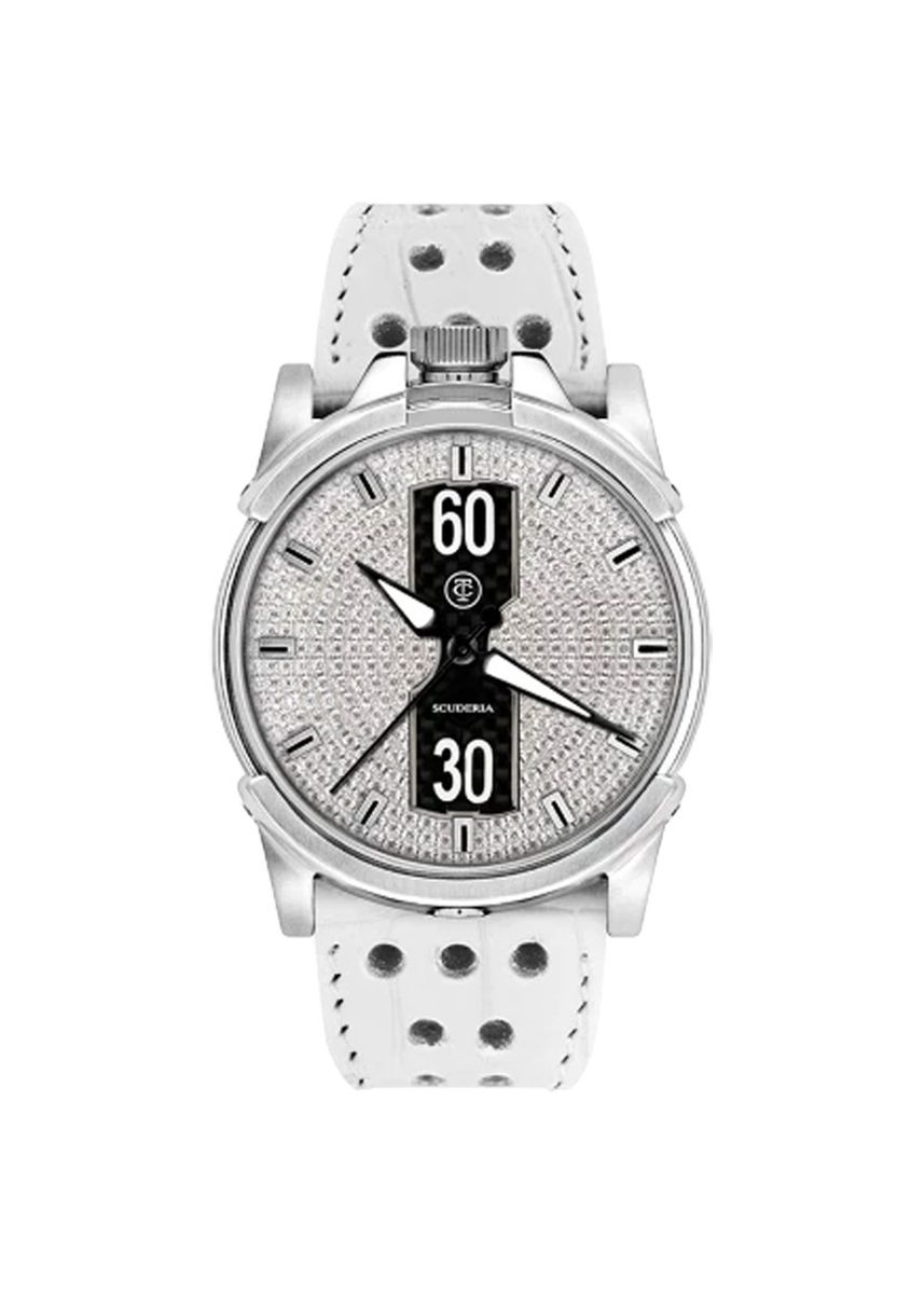 Silver color Chronographs . CT Scuderia Diamonds Women's Watch CS10207 -