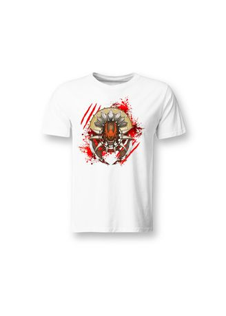 White color T-Shirts and Polos . Guitar Apparel DOTA 2 Blood Seeker Printed T-Shirt -