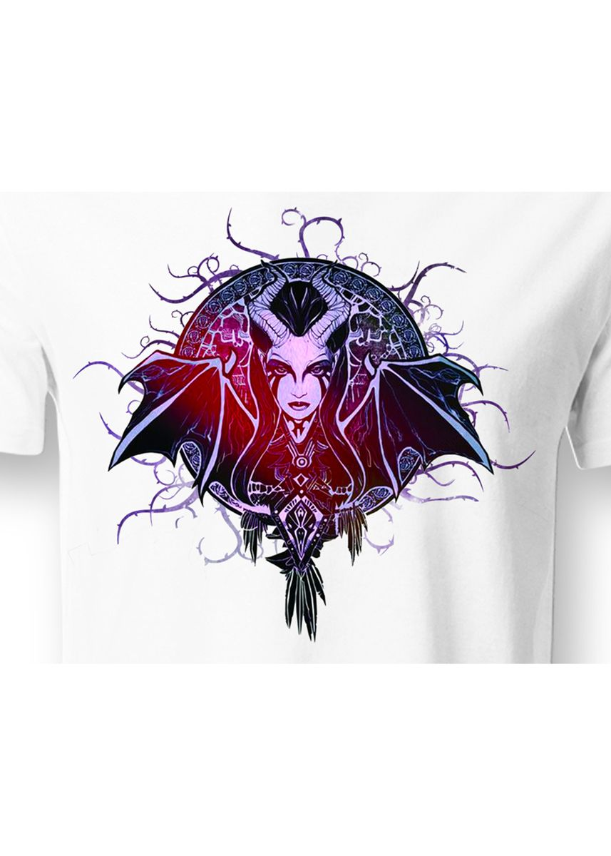 White color T-Shirts and Polos . Guitar Apparel DOTA 2 Queen of Pain Printed T-Shirt -