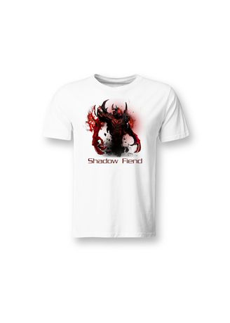White color T-Shirts and Polos . Guitar Apparel DOTA 2 Shadow Fiend Printed T-Shirt -