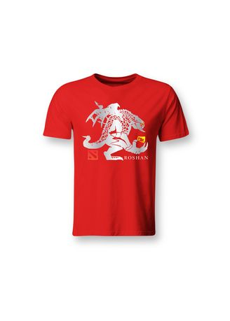 Red color T-Shirts and Polos . Guitar Apparel DOTA 2 Roshan Printed T-Shirt -