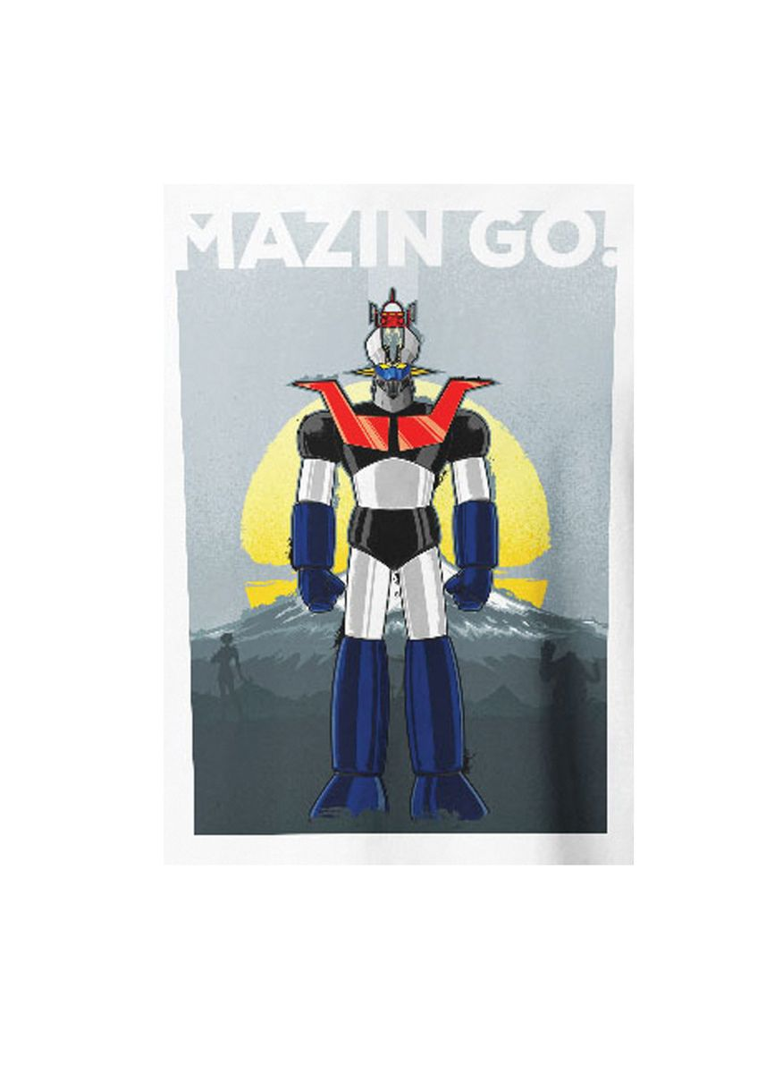 White color T-Shirts and Polos . Guitar Apparel Mazinger Z Printed T-Shirt -