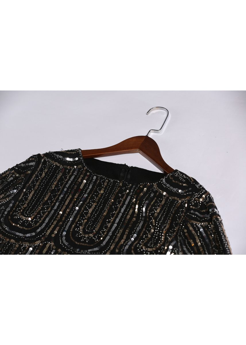 Black color Dresses . High End Luxury Beaded Embroidered Loose Dress -