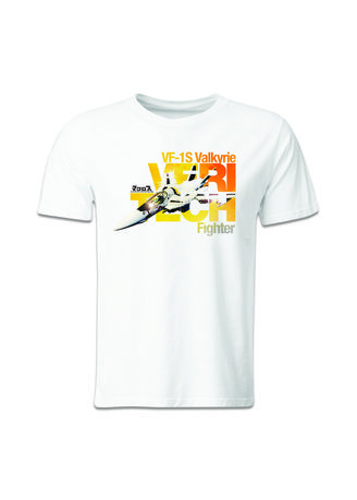 White color T-Shirts and Polos . Guitar Apparel Sentai VF-1S Strike Valkyrie-Roy Fokker Special Printed T-Shirt -