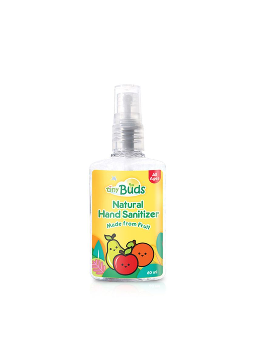 Yellow color Others . Tiny Buds Baby Natural Hand Sanitizer - Fruit, 60ml -