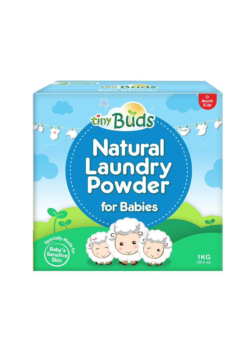 Blue color Others . Tiny Buds Baby Laundry Powder Detergent for Babies, 1kg -