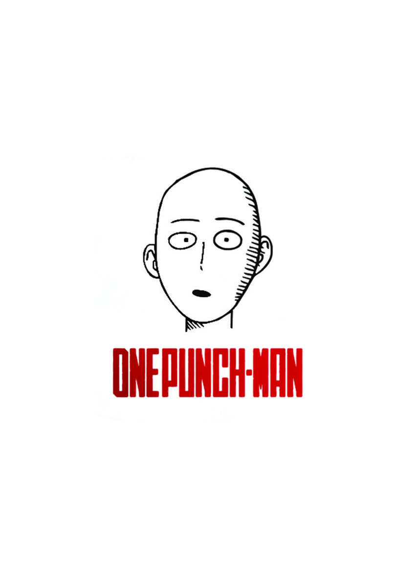 White color T-Shirts and Polos . Guitar Apparel One Punch Man Saitama Printed T-Shirt -