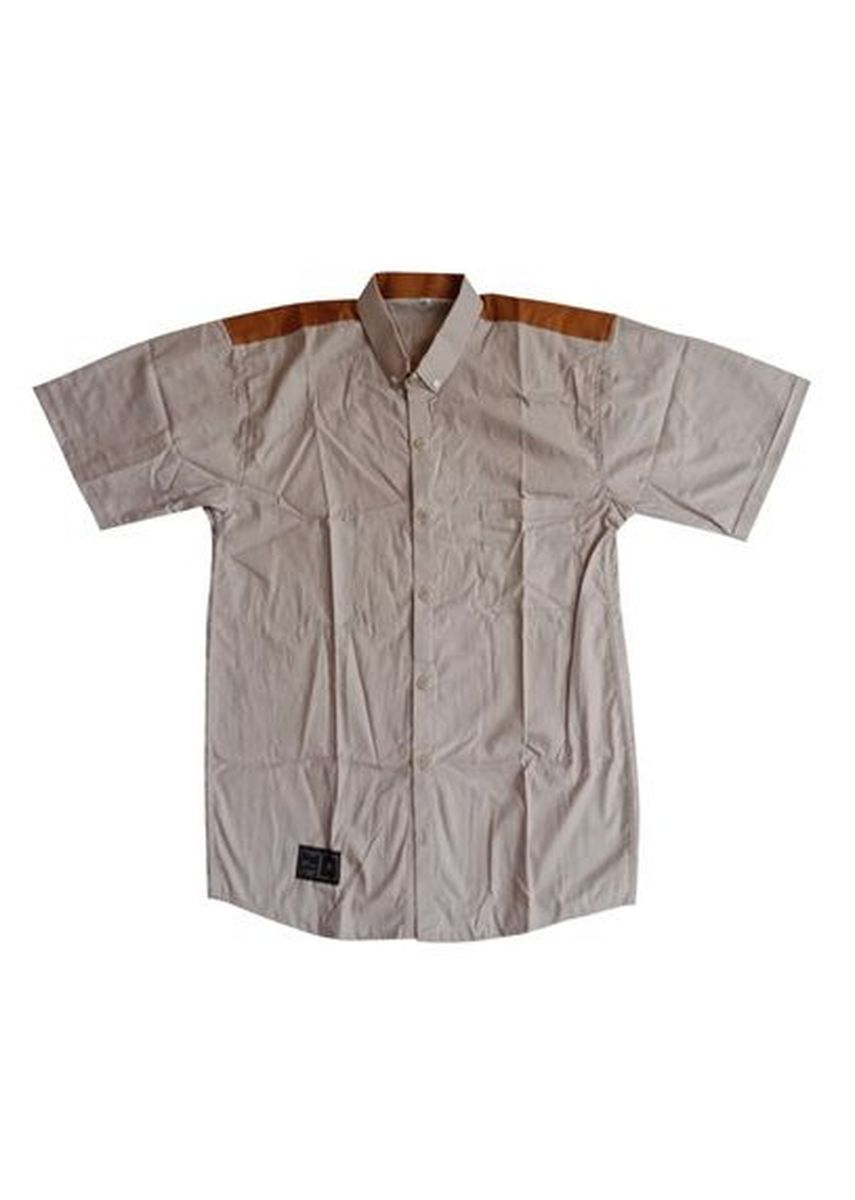 Tan color Kemeja Formal . Noisd Detonation- Kemeja Lengan Pendek-little7 -
