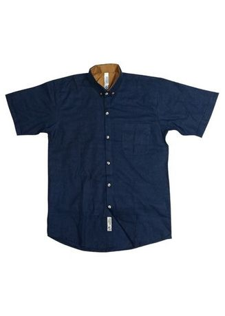 Navy color Formal Shirts . Noisd Detonation- Kemeja Lengan Pendek-drupadi7 -