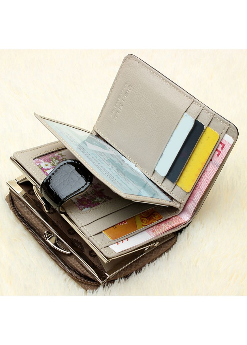 Red color Wallets and Clutches . Genuine Leather Women Short Mini Wallet  -