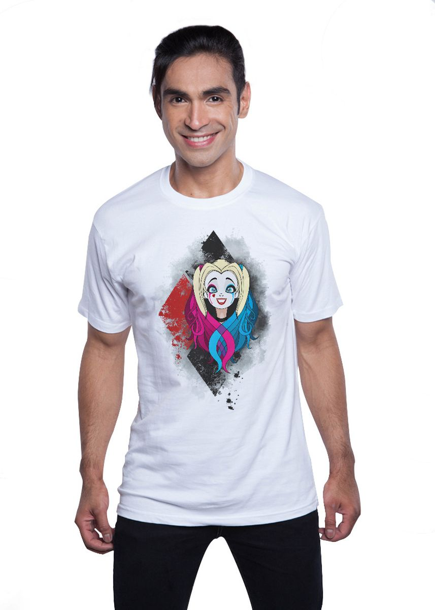 White color T-Shirts and Polos . Guitar Apparel Suicide Squad Harley Quinn Printed T-Shirt -